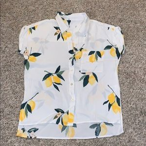 Rails Tops - Rails, Whitney Lemon Grove Button Down Shirt Small